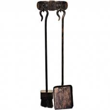 Набор инструментов для камина Hansa из 2 элементов, винтажная бронза