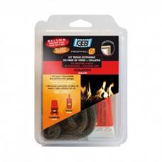 Огнеупорный клей и шнур GEB 10мм/2,5м+20мл