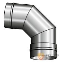 Колено 90° из нержавеющей стали 0,8 мм AISI 321