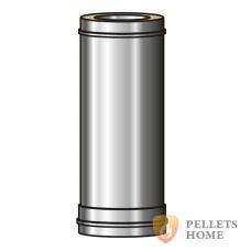 Труба 1м дымоходная двустенная с термоизоляцией нерж./нерж. 0,8 мм AISI 321