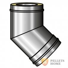 Колено 45 градусов 0,8мм с теплоизоляцией из нержавеющей стали AISI 321